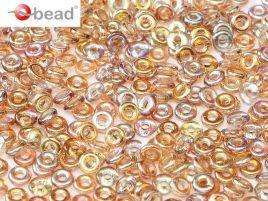 2x4mm O Bead in Crystal Brown Rainbow