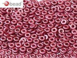 2x4mm O Bead in Pastel Burgundy