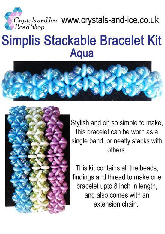 Simplis Stackable Bracelet Kit - Aqua