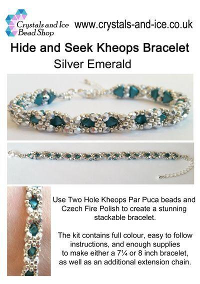 Hide and Seek Kheops Bracelet Kit - Silver Emerald