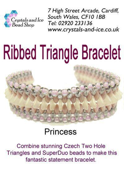 Ribbed Triangle Bracelet Kit - Princess