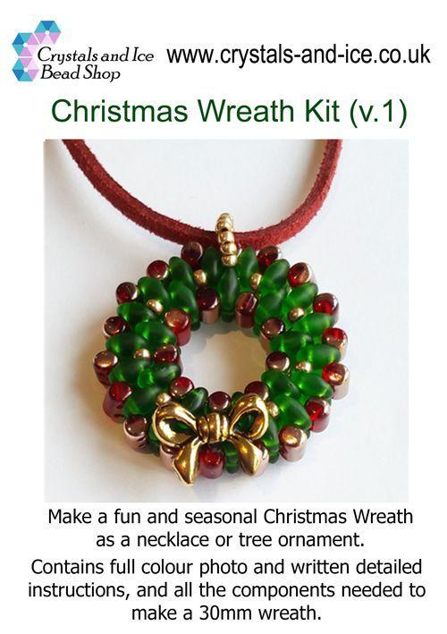 Christmas Wreath Kit - Necklace / Tree Ornament v1