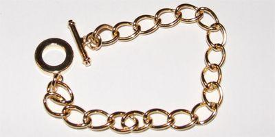190mm Charm Bracelet in Gold Plate