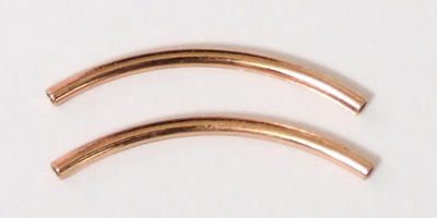 20mm Curved Tube - Copper Plated