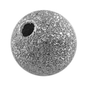 4mm Round Stardust Bead - Silver Colour