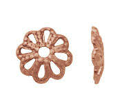 6mm Bead Cap in Solid Copper