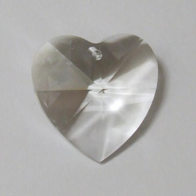 28mm Swarovski Heart in Crystal
