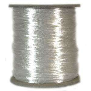 3mm Satin Cord - White