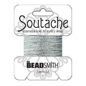 Textured Metallic Soutache Braid - Silver