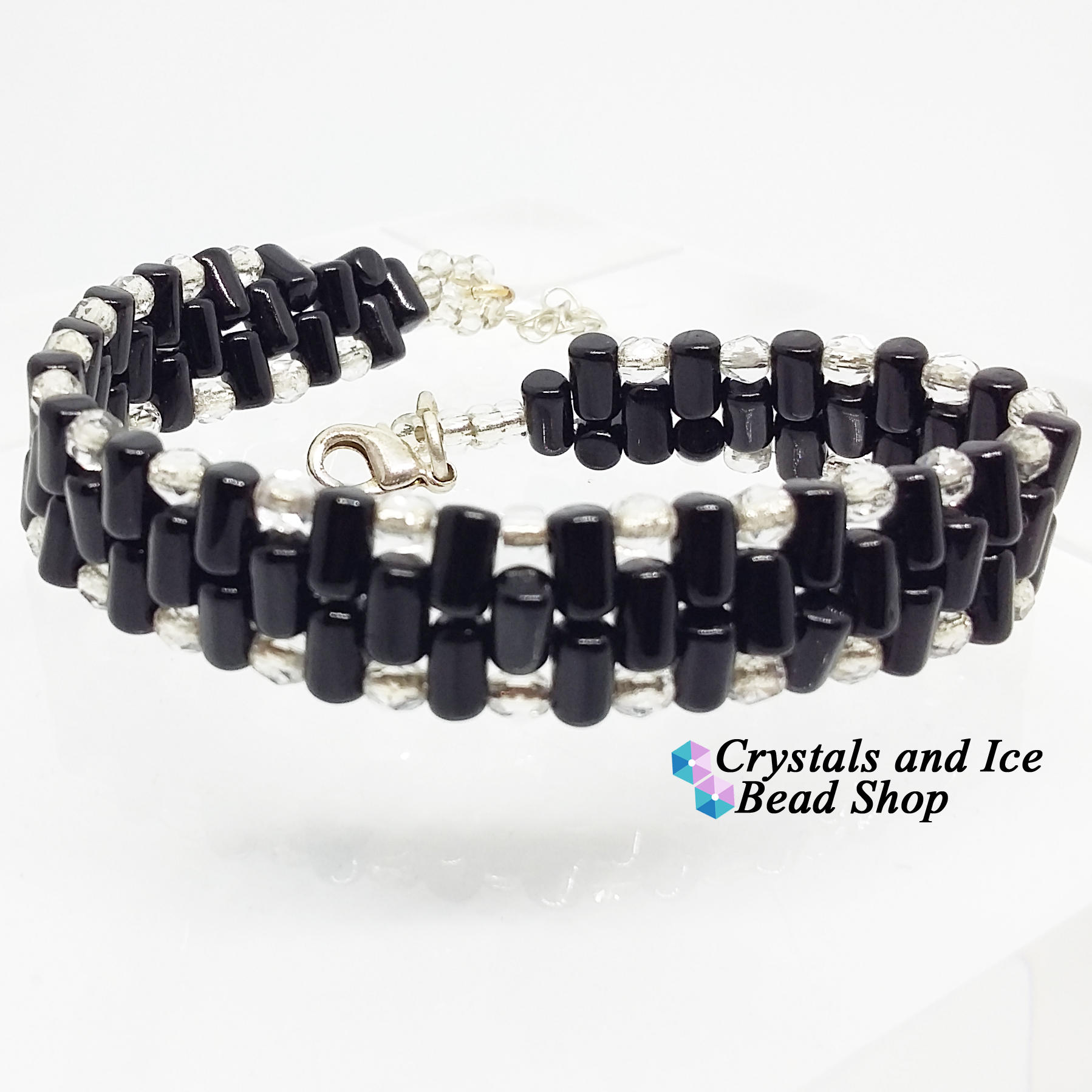 Jacobs Ladder Bracelet Kit - Black and Crystal