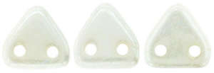 CzechMates Two Hole Triangle - Chalk White Lustre