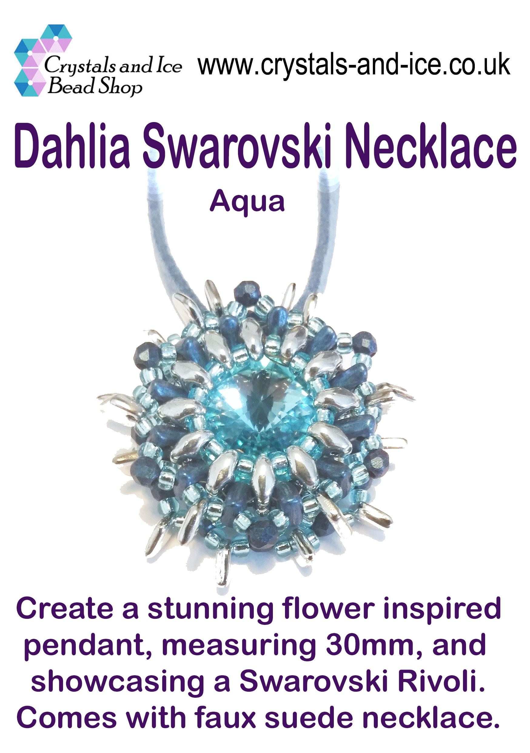 Dahlia Swarovski Necklace Kit - Aqua