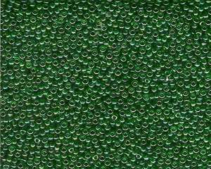 Miyuki Seed Beads 11/0 in Green/ Gold Transparent AB