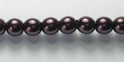 4mm Czech Glass Pearl in Aubergine