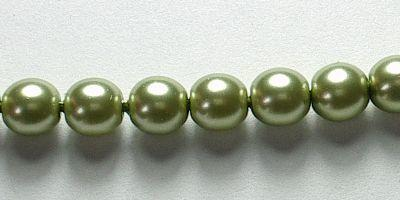 4mm Czech Glass Pearl in Olivine