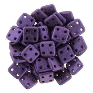 6mm CzechMates QuadraTile in Metallic Suede Purple
