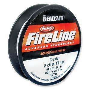 FireLine Braided Bead Thread - Crystal Size B (0.006 inch)