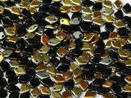 1.5x5mm Dragon Scale Bead in Jet Marea