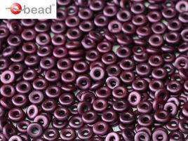 2x4mm O Bead in Pastel Bordeaux