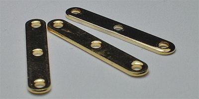 18mm 3 hole Spacer Bar in Gold Plate