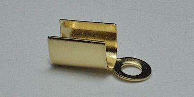7mm Folding Crimp in Gold Plate