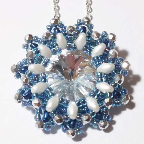 Beading Pattern - Snow Flower Pendant