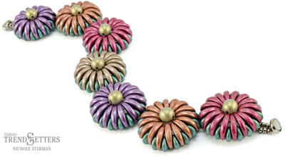 Chrysanthemum Bracelet - Printed Pattern