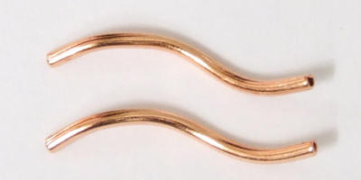 20mm Twisted Tube - Copper Plated