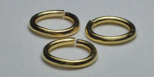 7.5mm Jump Ring in Gold Plate