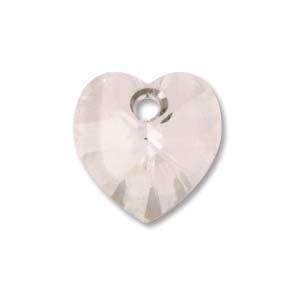 10mm Swarovski Heart in Crystal Silver Shadow