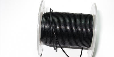 0.5mm Waxed Cord - Black