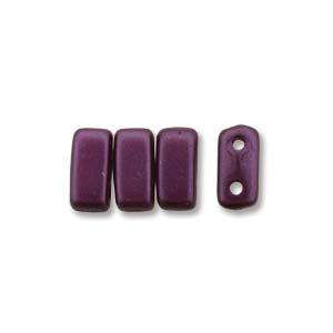 3x6mm Czech Mates Two Hole Brick in Pastel Bordeaux