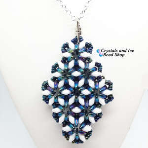 Archetype Pendant Kit - Blue Iris and White Pearl