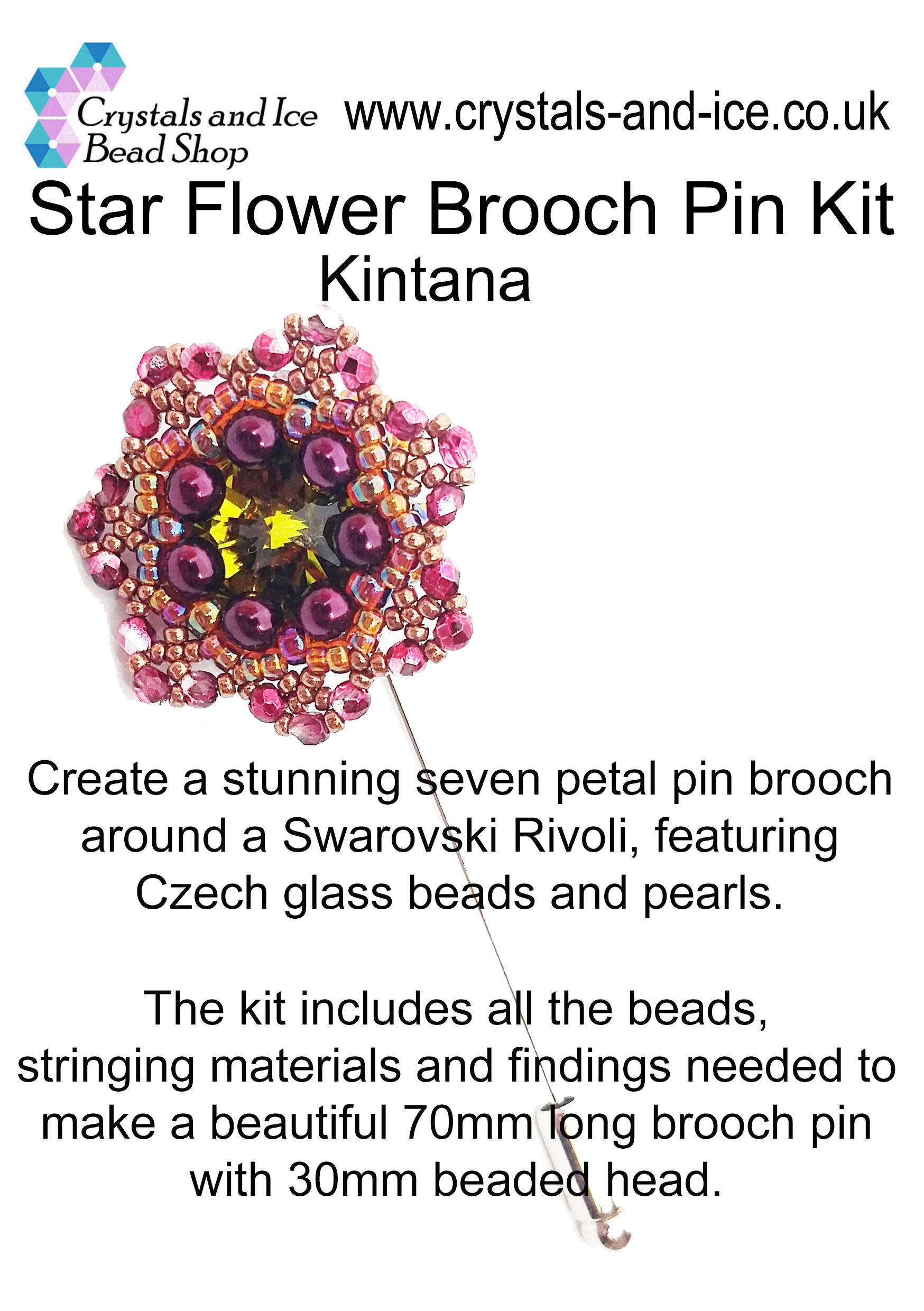 Star Flower Brooch Pin Kit - Kintana