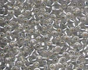 Miyuki Seed Beads 6/0 in Clear Trans. Silver Lined