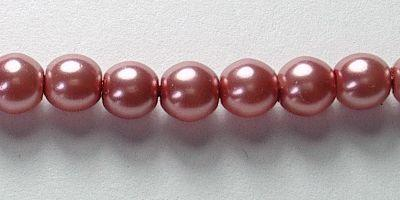 4mm Czech Glass Pearl in Blush