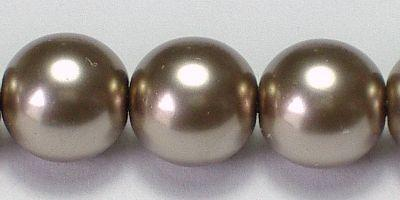 8mm Czech Glass Pearl in Cocoa