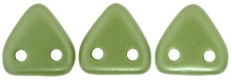 Czech Mates Two Hole 6mm Triangle in Olive Pearl