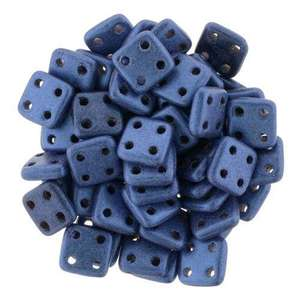 6mm CzechMates QuadraTile in Metallic Suede Blue