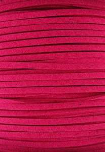 3mm Faux Suede in Fuchsia