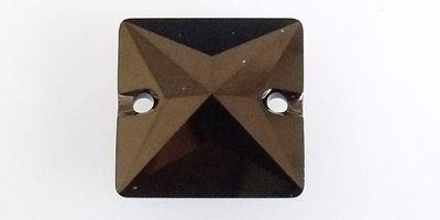 16mm Swarovski  Sew On Square in Jet Nut