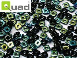 4mm Quad Bead in Jet AB