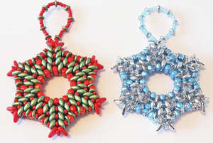 Beading Pattern - Christmas Star Tree Ornament