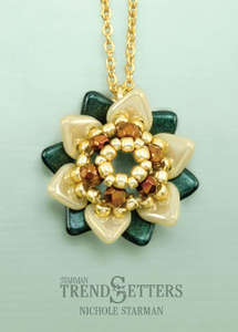 Winter Flower Pendant - Printed Pattern