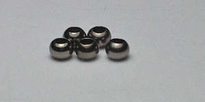 2.5mm Round - Black Plated
