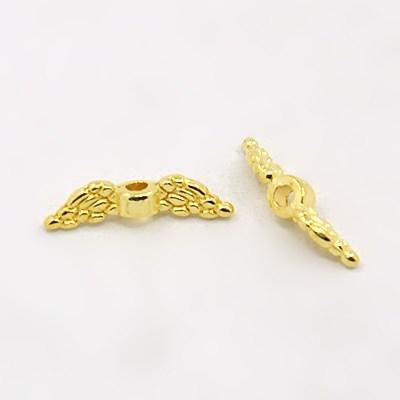 12x3mm Angel Wing - Gold Plate