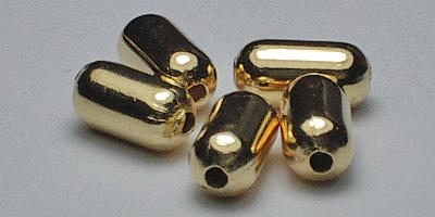 3*6mm Pill - Gold Plated