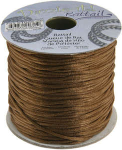 1.5mm Rattail Cord - Light Brown