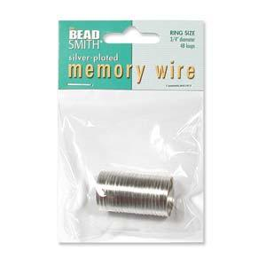 BeadSmith Silver Plated Memory Wire - Ring (3/4 inch diameter)