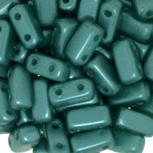 3x6mm Czech Mates Two Hole Brick in Pastel Teal